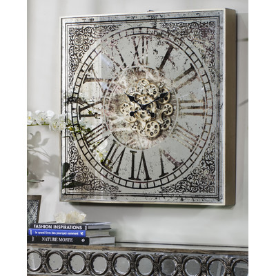 New Large Square Mirrored Wall Clock Batteries Not