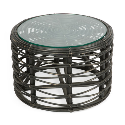 New lenkawe rattan round coffee table ebay Rattan round coffee table