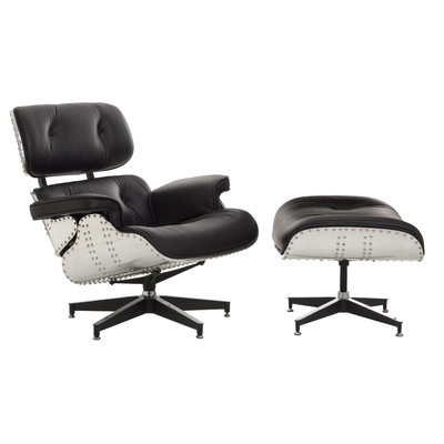 New eames replica aluminium lounge chair ottoman - Eames aluminum group lounge chair replica ...