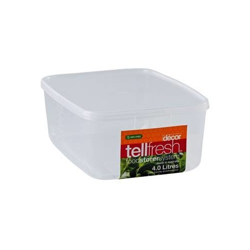 Decor kitchen containers jars canister new tellfresh for Decor 900ml container