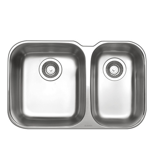 Essential One and Half Bowl Undermount Sink Temple & Webster