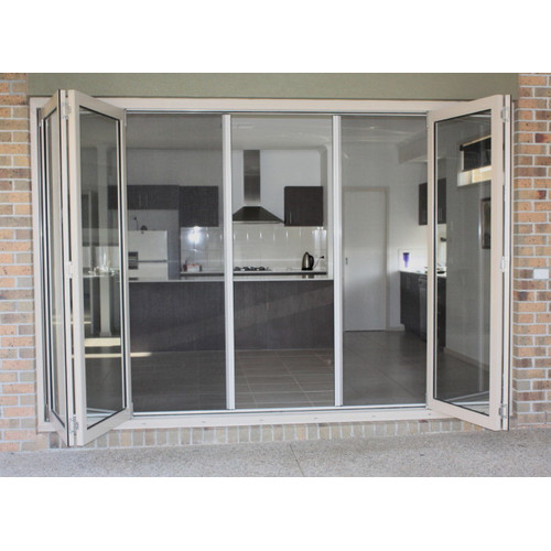 New retractable flyscreen for french door ebay for Retractable fly screens french doors