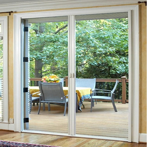 New retractable flyscreen for french door ebay for Flyscreens for french doors