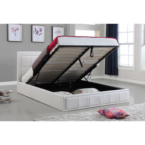 Gas Lift Storage Bed : New pu leather queen size gas lift storage bed ebay