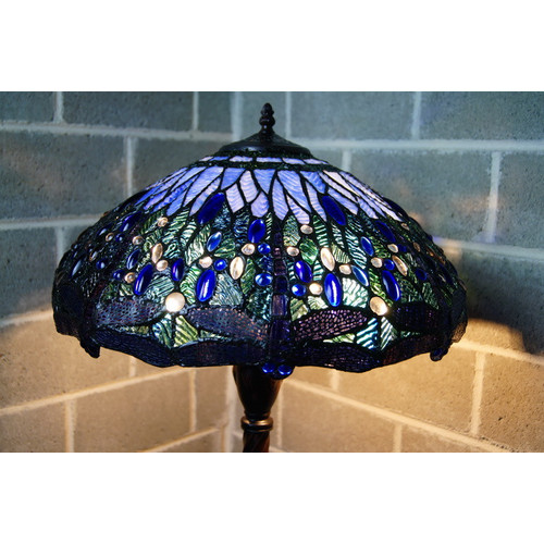 Dragonfly Tiffany Floor Lamp Temple Amp Webster
