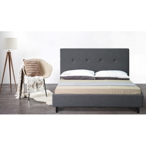 New grey cristo wooden bed frame ebay for New bed frame