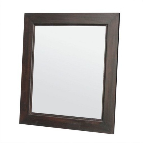 Wooden frame mirror 80 x 90cm temple webster for Mirror 80 x 50