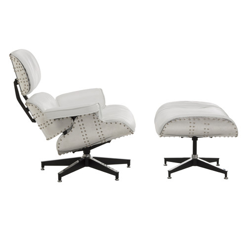 New eames replica aluminium lounge chair ottoman ebay - Eames aluminum group lounge chair replica ...
