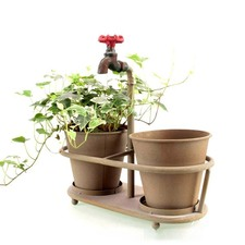 Faucet Holder Sculpture Planters in Rustic