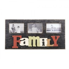 Raised Letters Family Photo Wall Plaque