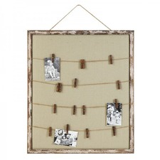 Wooden and Fabric Memo / Picture Holder