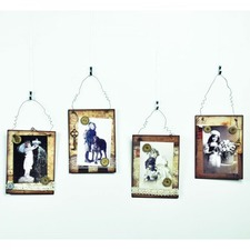 Metal Picture / Memo Holder Wall Plaque (Set of 4)