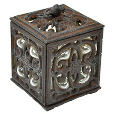 Metal and Glass Tealight Holder