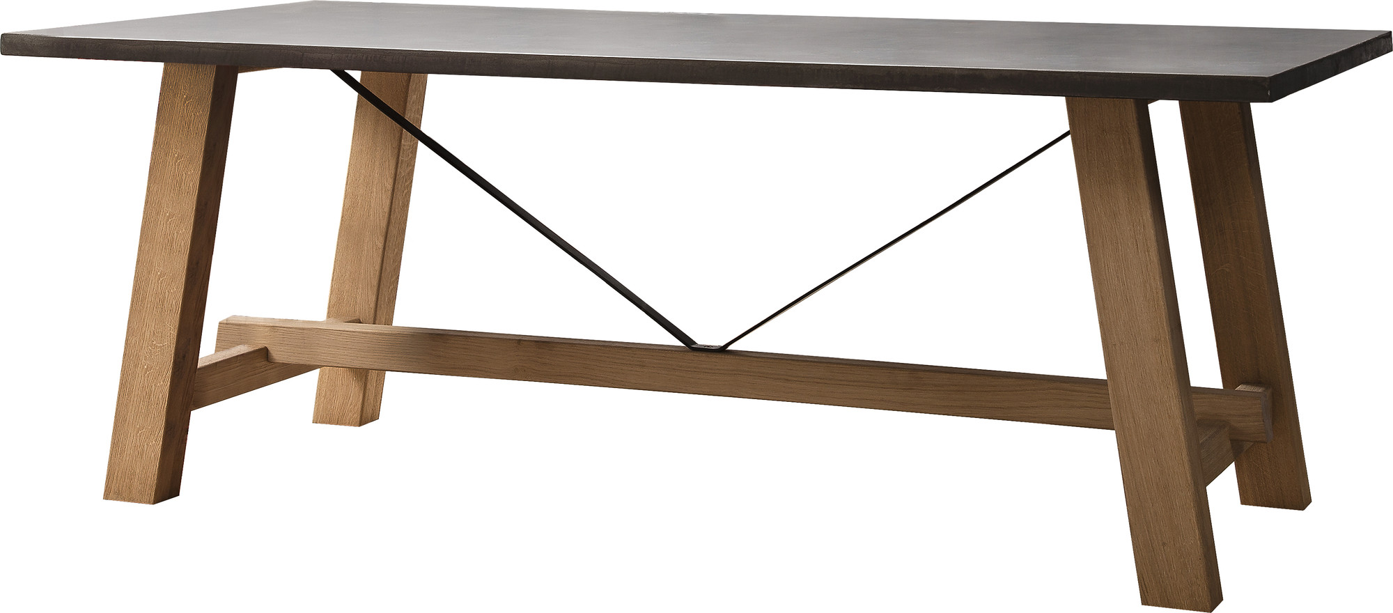 New blenn trestle dining table ebay Trestle dining table