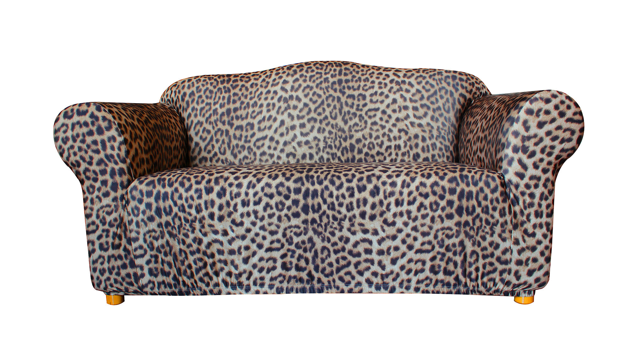 new statement prints leopard 2 seater sofa cover