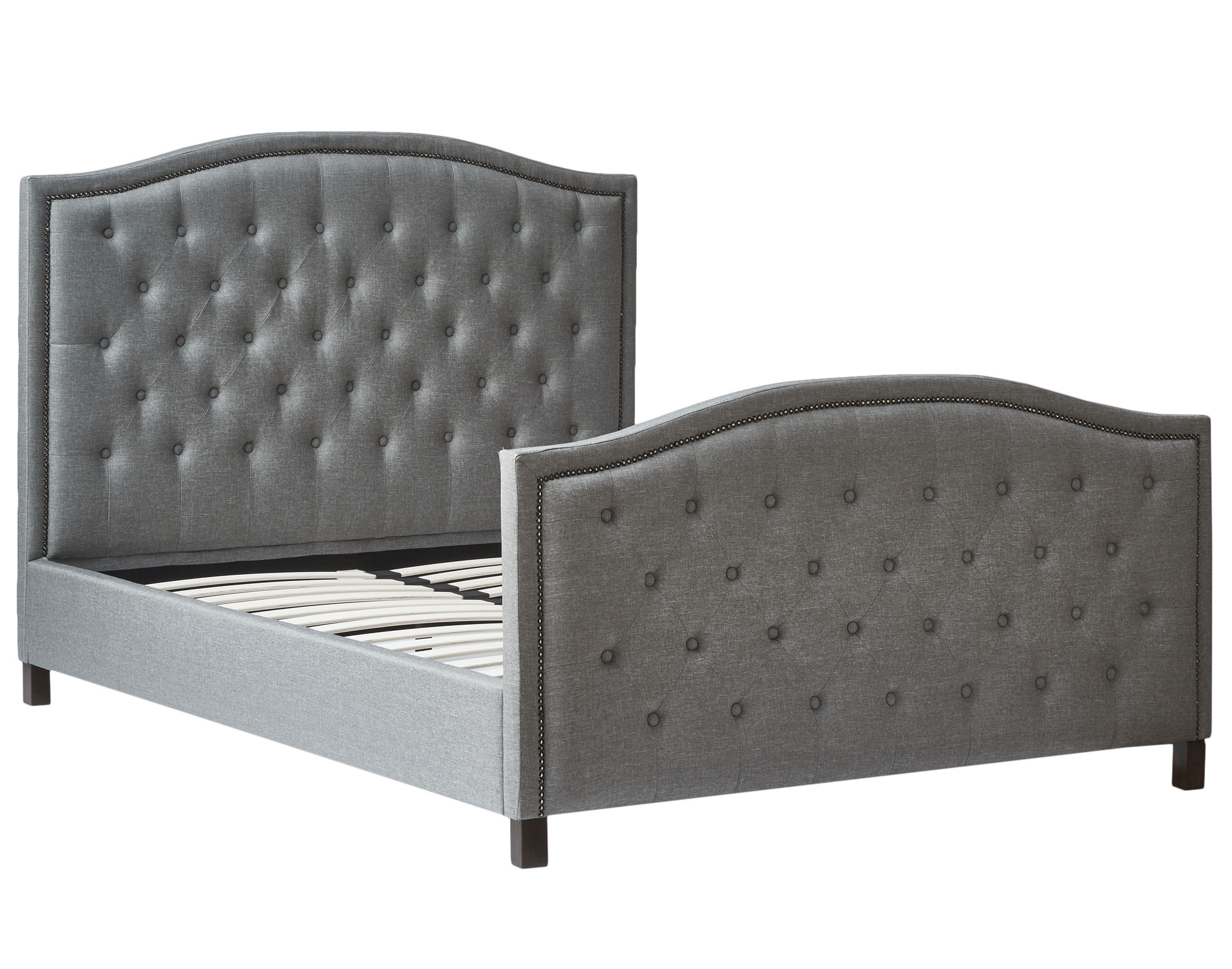 New light grey luxury queen bed frame ebay for New bed frame