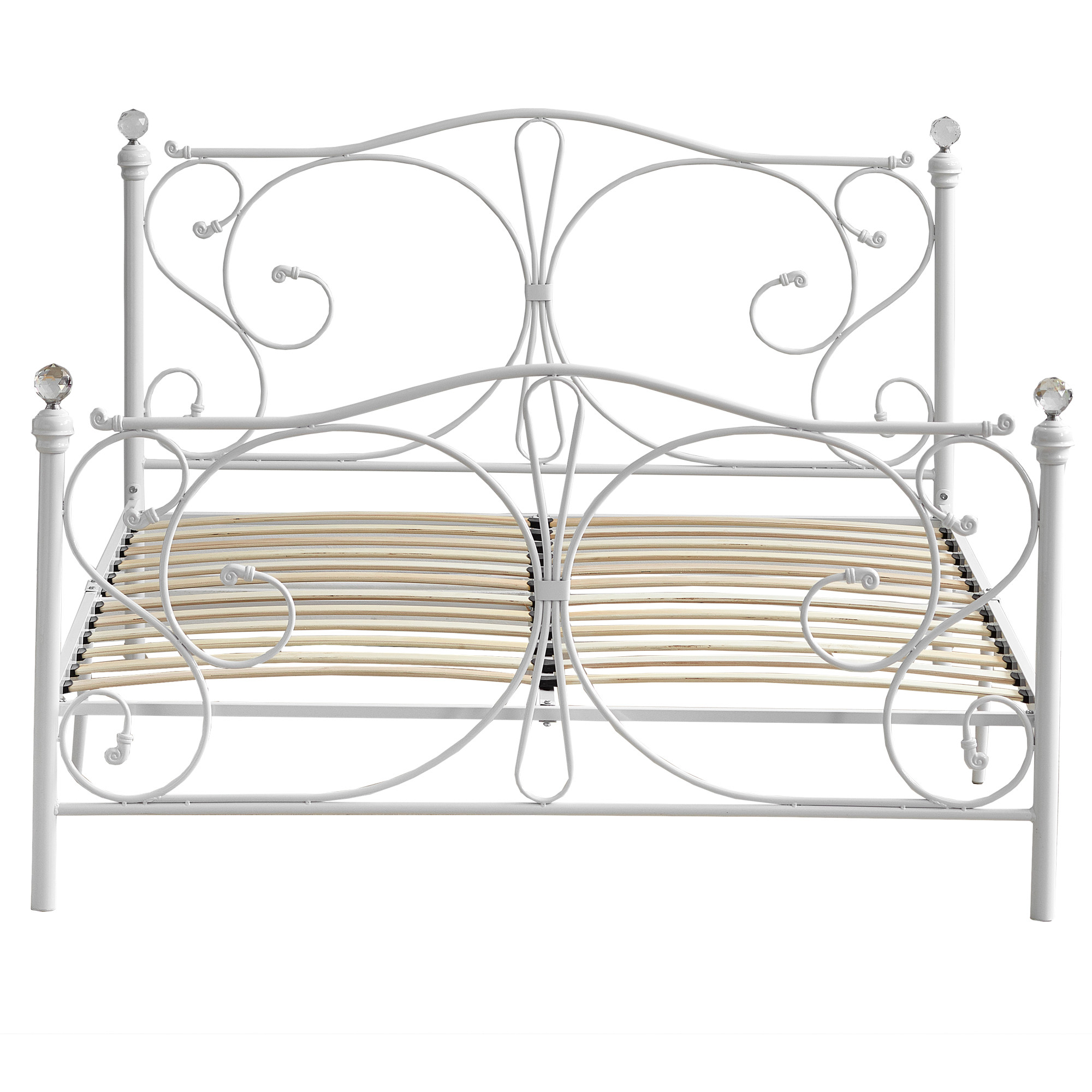 New Classical Christina White Metal Bed Frame Ebay