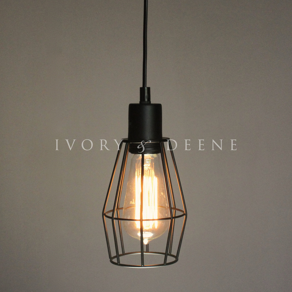 NEW Wire Cage Industrial Pendant Light