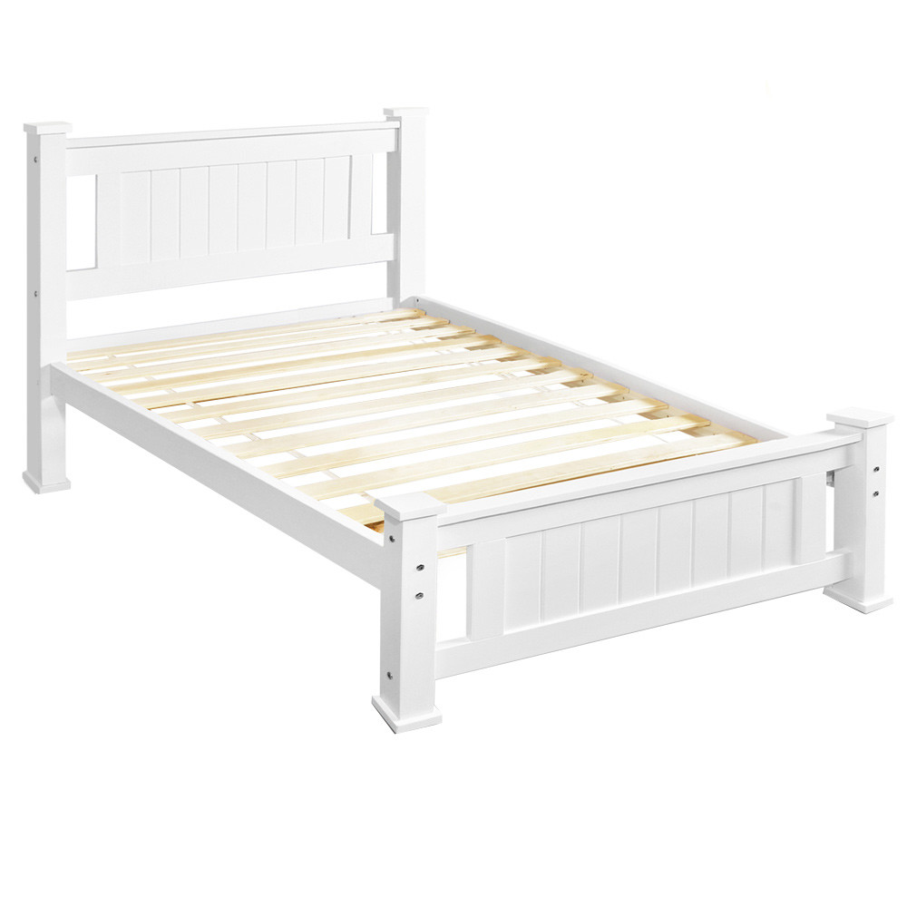 New single pine wood bed frame aud picclick au for New bed frame