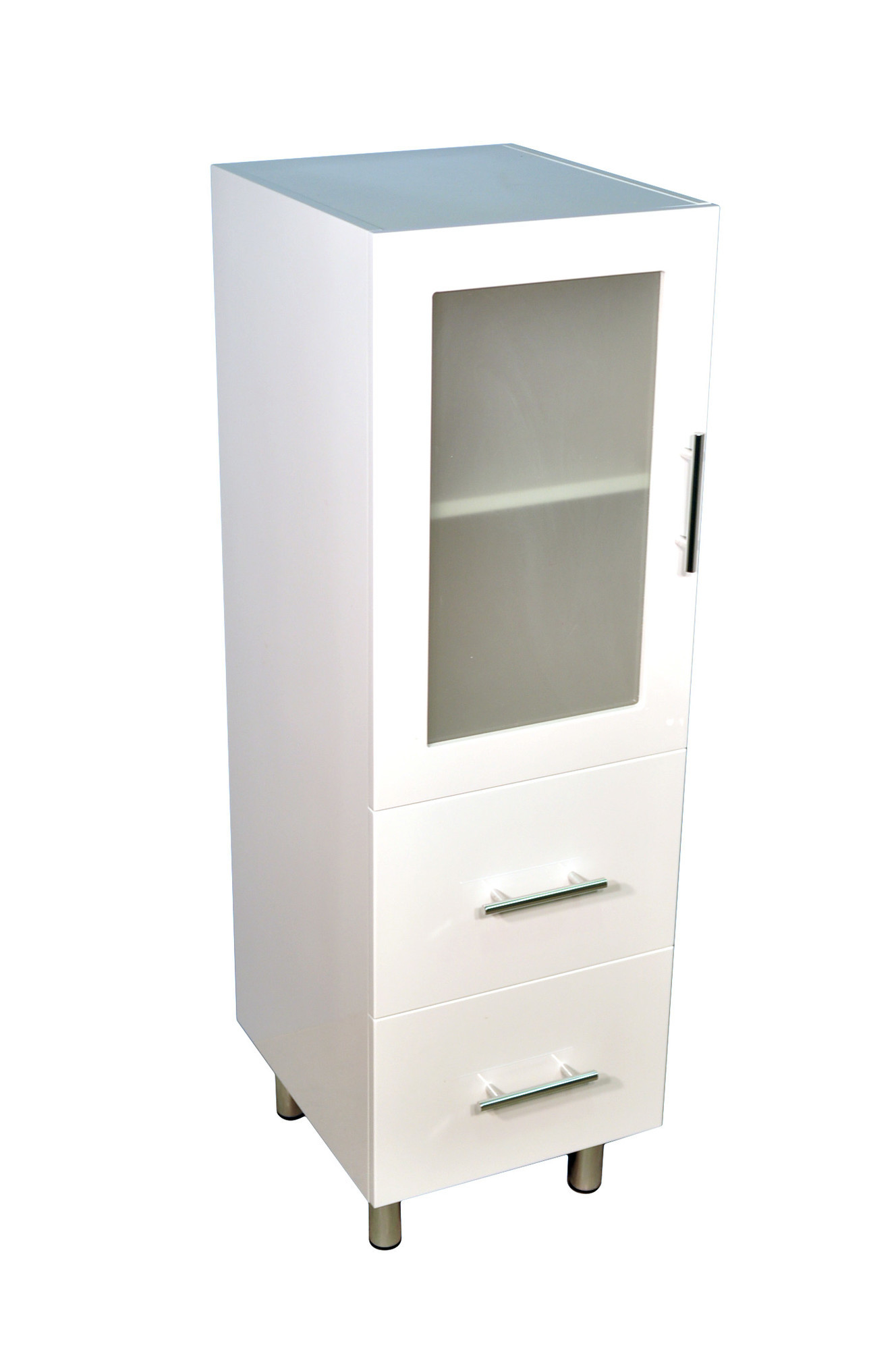New 1200 tall boy bathroom cabinet with two drawers ebay for Bathroom cabinets ebay australia
