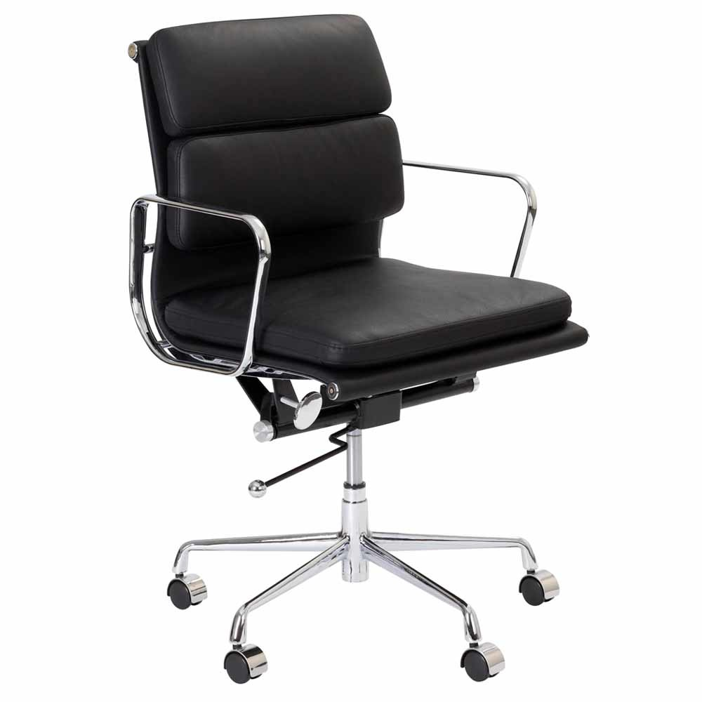 new eames premium replica soft pad management office chair. Black Bedroom Furniture Sets. Home Design Ideas