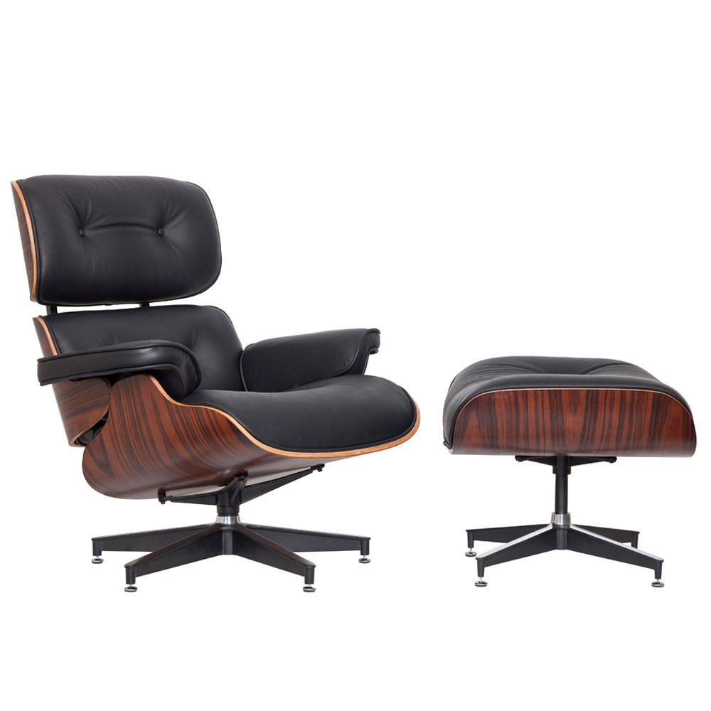 New Classic Eames Replica Lounge Chair Ottoman Ebay