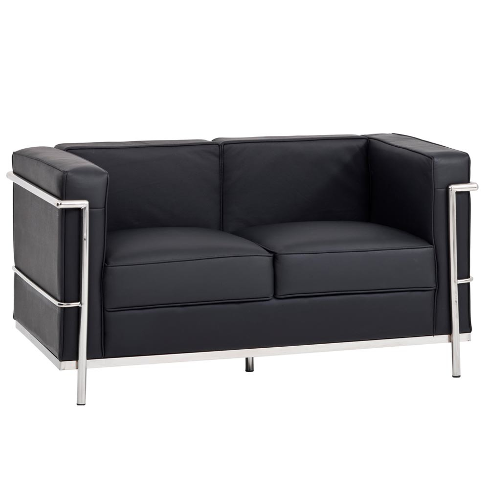 new le corbusier replica lc2 2 seater sofa ebay. Black Bedroom Furniture Sets. Home Design Ideas