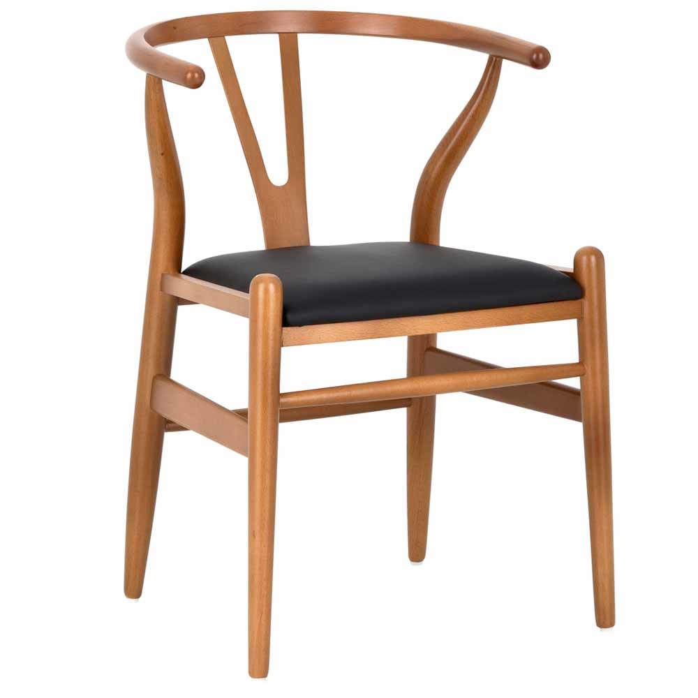 new hans wegner replica wishbone chair padded seat ebay. Black Bedroom Furniture Sets. Home Design Ideas