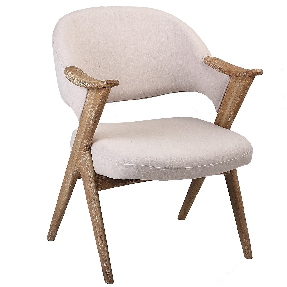 French Wing Upholstered Armchair Linen Traditional Cream  : 1 from www.50han.com size 1188 x 1188 jpeg 207kB