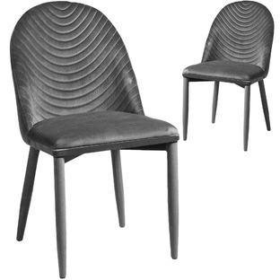 Bella Quilted Velvet Chairs (Set of 2)
