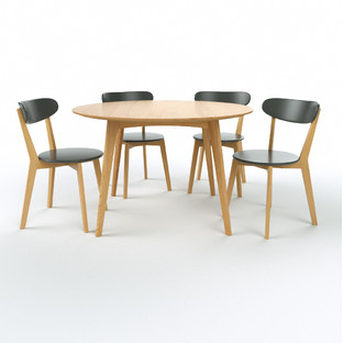 Oslo Oak Round 5 Pce Dining Set