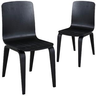 Black Kiev Dining Chairs (Set of 2)
