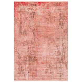 Coral Bamboo Silk & Acrylic Rug