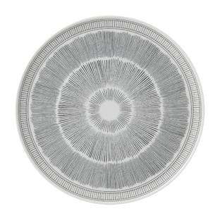 ED Ellen DeGeneres 32cm Charcoal Grey Lines Platter