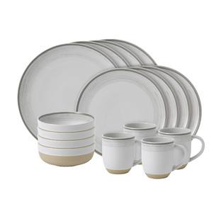 ED Ellen DeGeneres Brushed Glaze Soft White Collection Table Set (Set of 16)