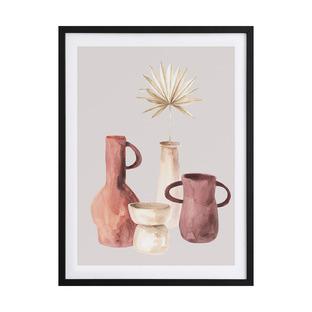 Ceramic Pots I Framed Printed Wall Art