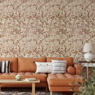 Sepia Monochrome Natives II Peel & Stick Wallpaper
