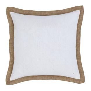 White Hampton Linen Cushion 50x50cm