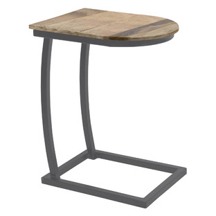 Latte Charcoal Side Table