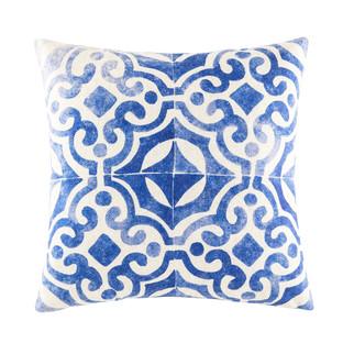 Zania Blue Square Cushion