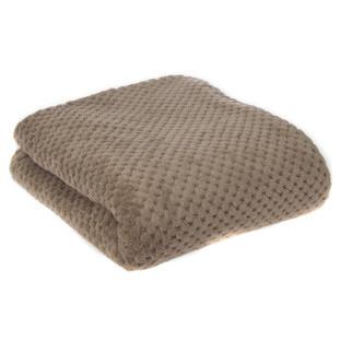 Diamond Taupe Fleece Blanket