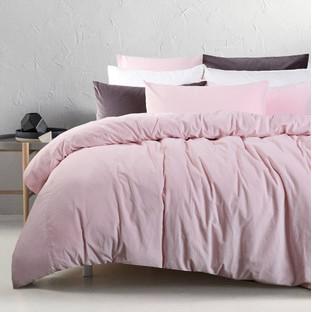 Blush Cotton Velvet Quilt Cover Set