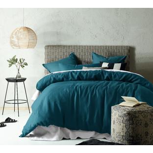 Linen & Cotton Jade Quilt Cover Set