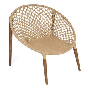 Jute Woven Ring Occasional Chair