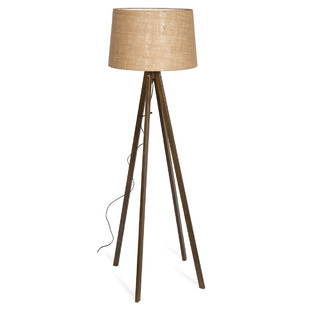 Paris Wooden Tripod Floor Lamp with Jute Shade