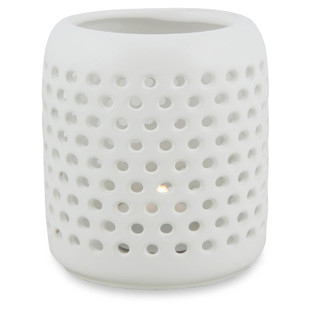 Ceramic Candle Holder with Holes