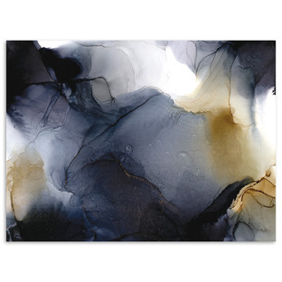 Golden Soul Abstract Printed Wall Art by Fern Siebler