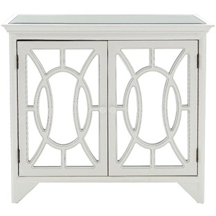 Distressed White Buxton Cabinet