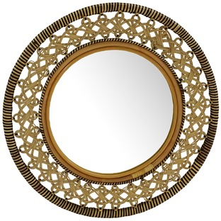 Verity Woven Round Mirror