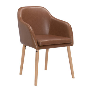 Tan Leatherette Hudson Dining Chair